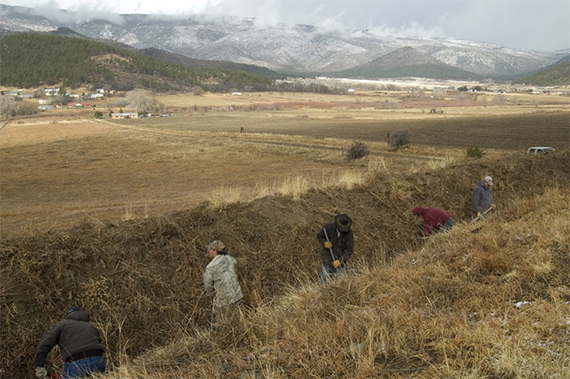 Acequia clearing in Mora, NM.