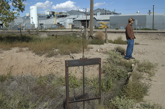 Polluted acequia, Albuquerque's South Valley.