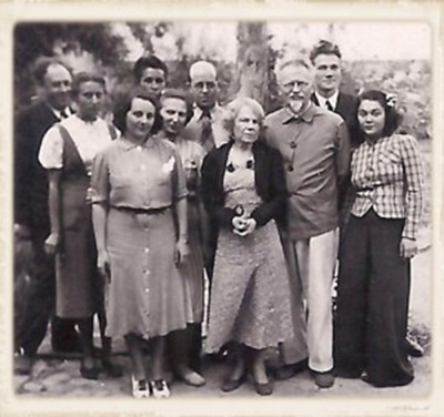 """Van Heijenoort, second from right; Loretta """"Bunny"""" Guyer, his future wife, at far right. ©Laure van Heijenoort, Used with permission."""
